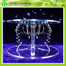 DDC-0061 Chinese Factory Sells SGS Test Beautiful Swans Wedding Cake Stand and Cake Separator Set