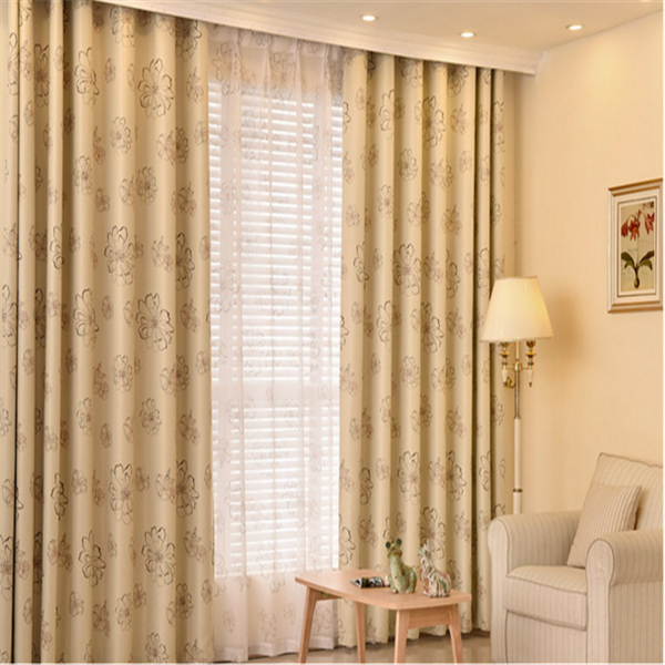 100 polyester printed curtain flower pattern design modern window curtain