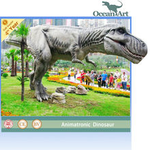 Life-size animatronic mechanical dinosaur T-Rex
