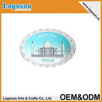 custom tourist cities 3d Foil paper printing indian souvenir fridge magnet