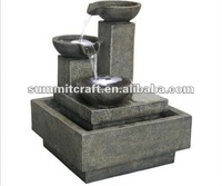 Resin stone garden fountain