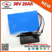 Expert Manufacturer of Rechargeable 36V 20Ah 400W 540W Lithium ion Battery Pack for Ebike with 15A BMS