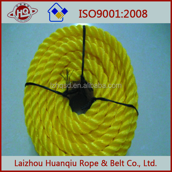 yellow fishing net PE rope twine