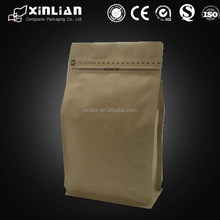 Wholesale 250g 500g 1kg coffee bag/flat bottom bag with valve/drip coffee bag
