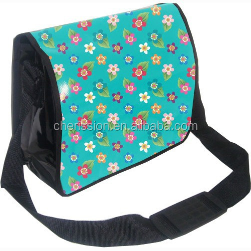 Fashion Tarpaulin PVC School Shoulder Messenger Bag
