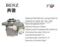 Brand New Steering Pump for BENZ 001 466 7280 LUK 542 0050 10