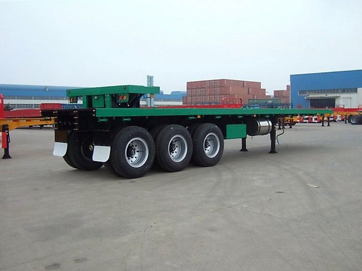 flat bed type semi truck trailer hightened with double fences on side panels 3 axles store house bar semi trailer for sale