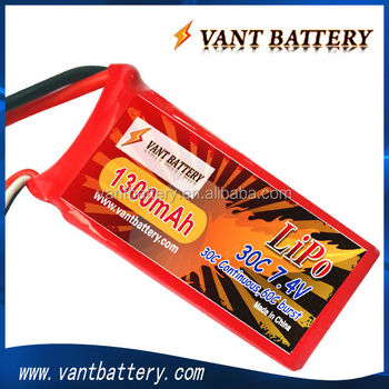 rc lipo battery 2S 7.4V 30C 1300mah for rc heli