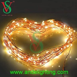 2015 new style fancy copper wire string light starry light 10 meters 100 leds for Christmas decoration