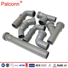 pvc pipe fitting grey for waste water drainage system DIN Standard