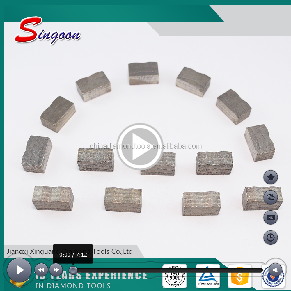 Longlife and sharpness diamond segments for granite cutting ming tools, diamond grinding segments for cutting granite stone