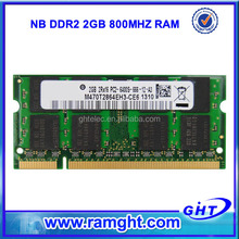 Fast delivery cheap price promoted ecc ddr2 800 mhz 2gb for laptop