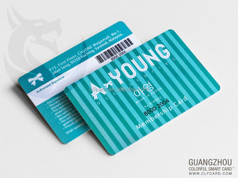 Professional nice printing pvc card with barcode