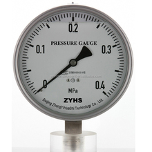 Stainless steel glycerine or silicone oil filled pressure gauge