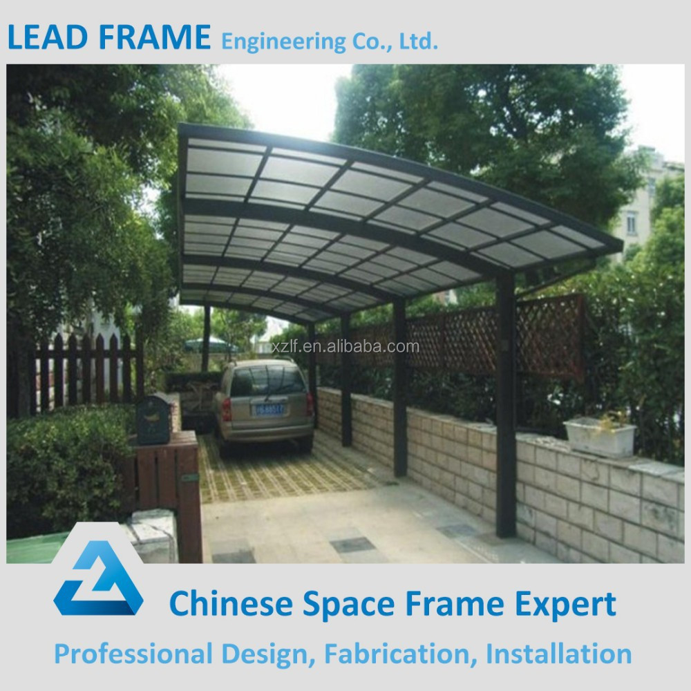 Built On Garage Shade Canopy : Car shed building parking canopy with low cost buy