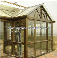 The 12mm thick toughened glass for glass house