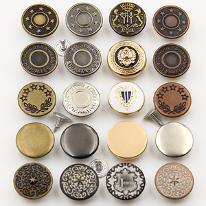 Metal Jeans Button Custom Logo Manufacturer exquisite Zinc Alloy iron brass metal cover rivet 20mm denim Jeans Button