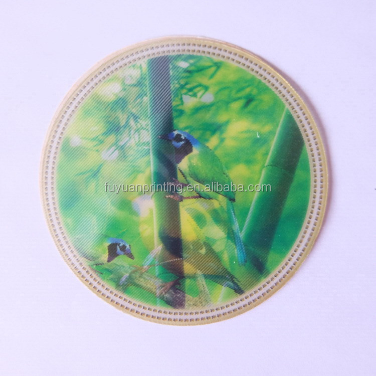Quality antique 3d lenticular flip 3d card sticker