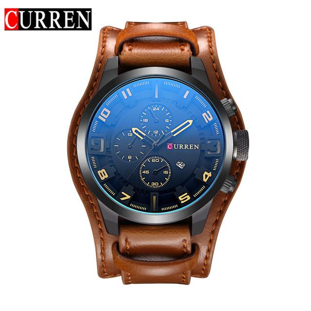 CURREN 8225 Fashion Novelty Top Brand Curren Watch Man Luxury Watches Hand Quartz Watch With Leather Strap