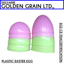 chocolate hollow plastic fake easter eggs decoration