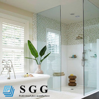 bathroom tempered glass 3 panel sliding shower enclosures door