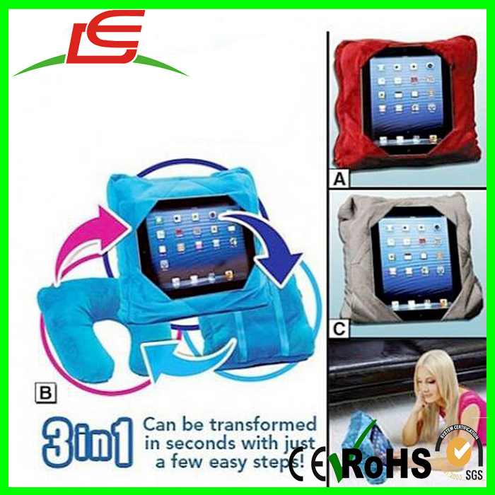 most popular soft plush transformed cushion pillow 3in1 car tablet holder