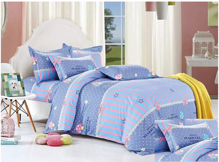 100% cotton printed cheap online bed linen manufacture