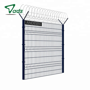Outdoor retractable stainless steel welded mesh fence