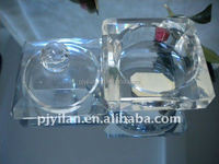 elegant clear crystal jewelry box