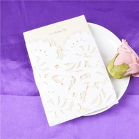 Exquisite white and beautiful flower free sample birthday invitation vip card