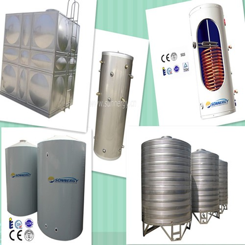 China Manufacturer Residential Solar Water Heater Tank