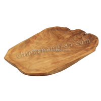 Natural Sharp Hand Carved Fir Root Wood Carving Extra Large Platter Wood Plate