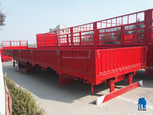 2017 China Titan Steel Utility Flatbed Semi Trailer with Side wall For Sale