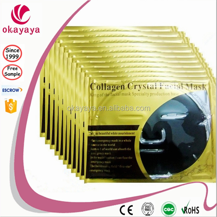 24k Anti-Aging Collagen Effective Gold Collagen Crystal Facial Mask Gold Bio- Collagen Mask By Cosmetic OEM/ODM