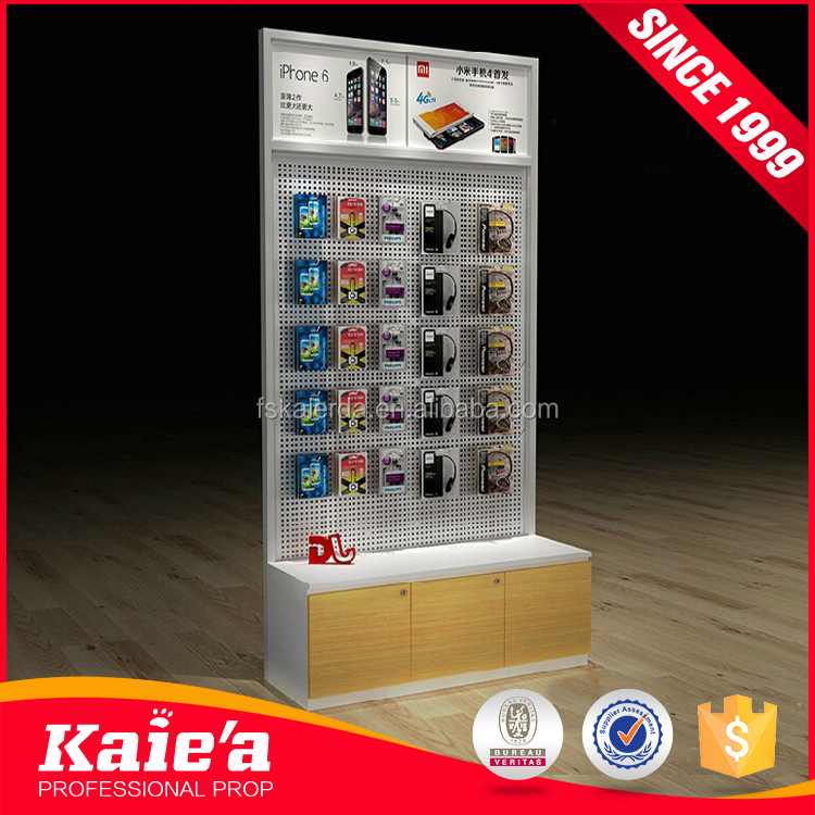 Mobile phone shop accessories display cabinet counter interior design