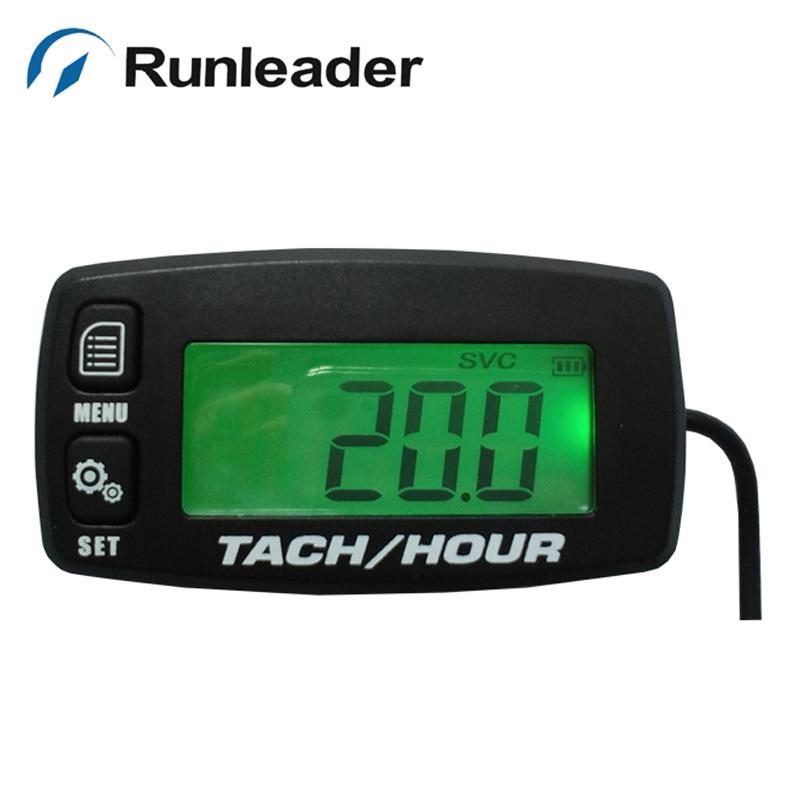 Digital Hour Meter : Go kart digital tachometer hour meter w max rpm recall