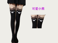 WONDQ Sexy Cat Heart Rose Tattoo Pantyhose And Tights Woman