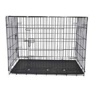 Black powder coating iron wire xxl big alu dog cage malaysia