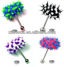 Vibrating Koosh Tongue Ring Battery Included Body Piercing Jewelry