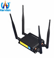 Durable 4 External Antennas 4G LTE Router Broadband WiFi Hotspot OpenWRT 5 Port Bus Router for CCTV with SIM Card Slot