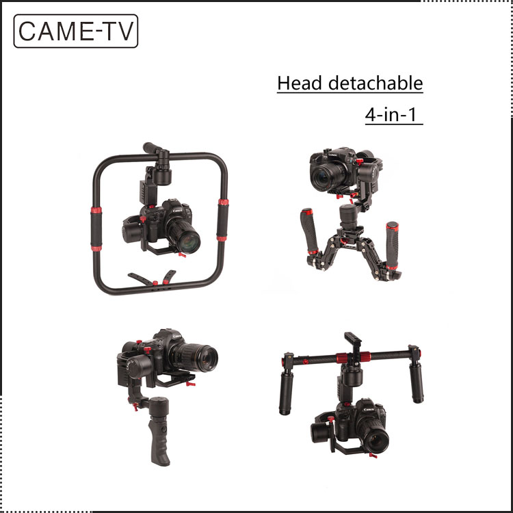 Film Shooting Equipment 3 Axis Camera Gimbal CAME-TV PROPHET 4 In 1 Gimbal With Detachable Head For Medium-sized Camera/DSLR