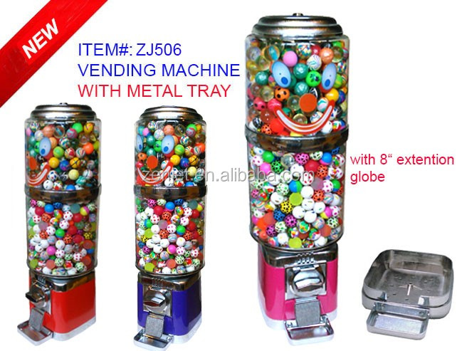 27mm bouncy balls vending machine ZJ506T(prepaid phone card vending machine)