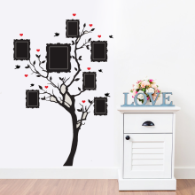 New design large family tree vinyl wall decal Peel and stick vinyl wall art DIY Photo gallery frame decor sticker