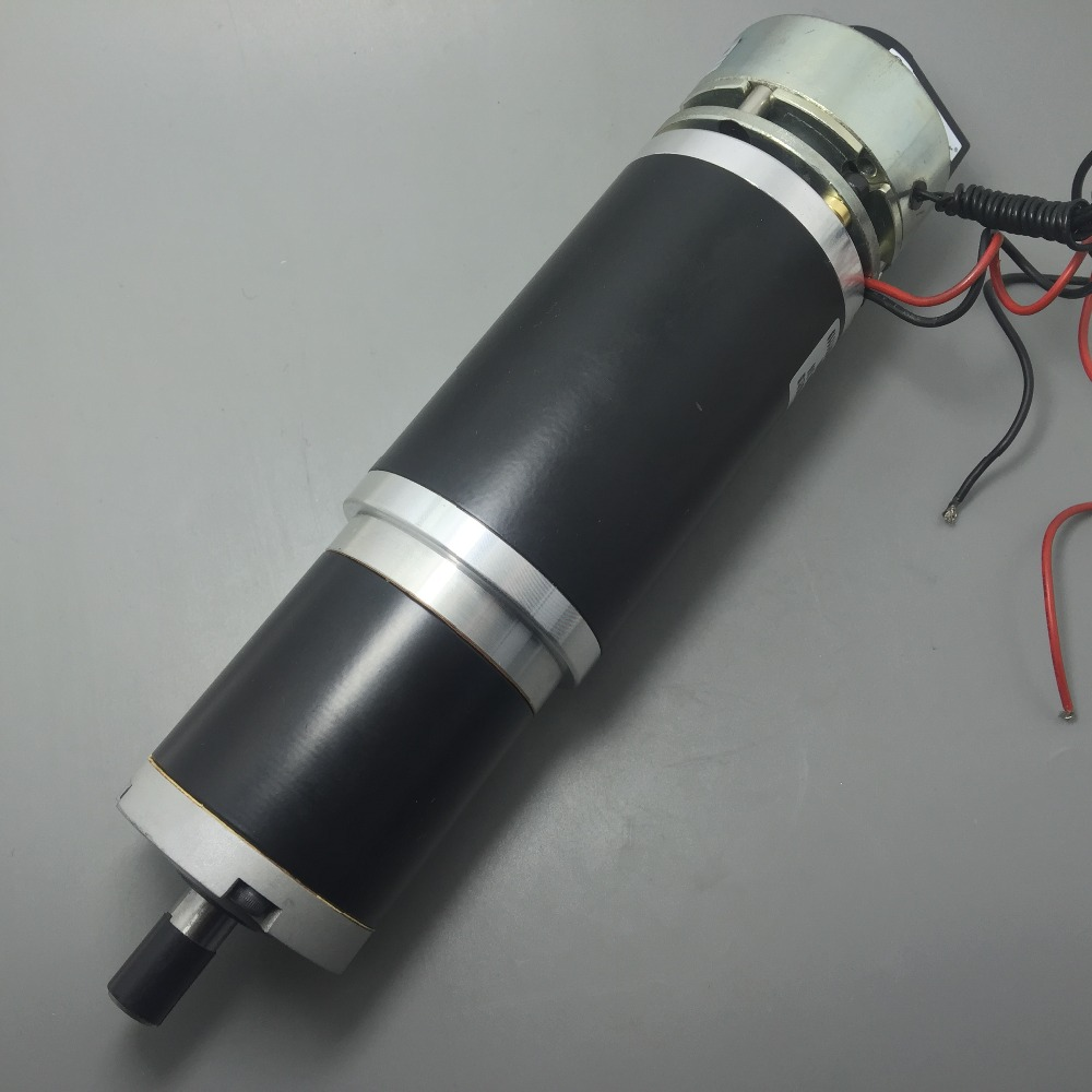 63mm High Torque Pm Dc Planetary Gear Motor, with Optical Encoder, Electric Brake assembly