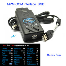 USB MPM-COM Interface Car Diagnostic Scanner can be with full Maxiecu software or your needed car brand software