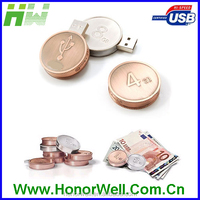 customized usb flashdrive pennies coin acceptor usb 1gb 16gb