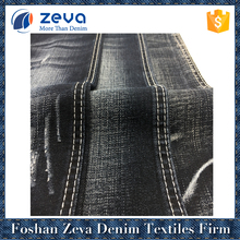 Heavy weight 3/1 right hand twill woven stretch gray denim fabric for sale