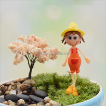 custom made mini action figure toy/beautiful girl figure for pot plant decoration/create new design action figure OEM factory