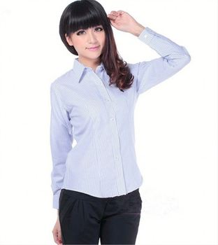Latest Arrival trendy style woman dress shirt with good prices