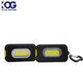 COB magnet keychain light with hook,small ABS work light